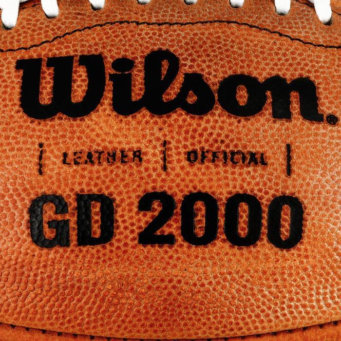 Ballon de Football américain de taille officielle pour adulte GD 2000 marron - 1307798
