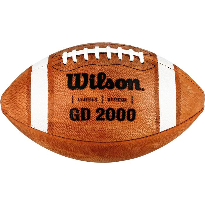 Ballon de Football américain de taille officielle pour adulte GD 2000 marron - 1307799