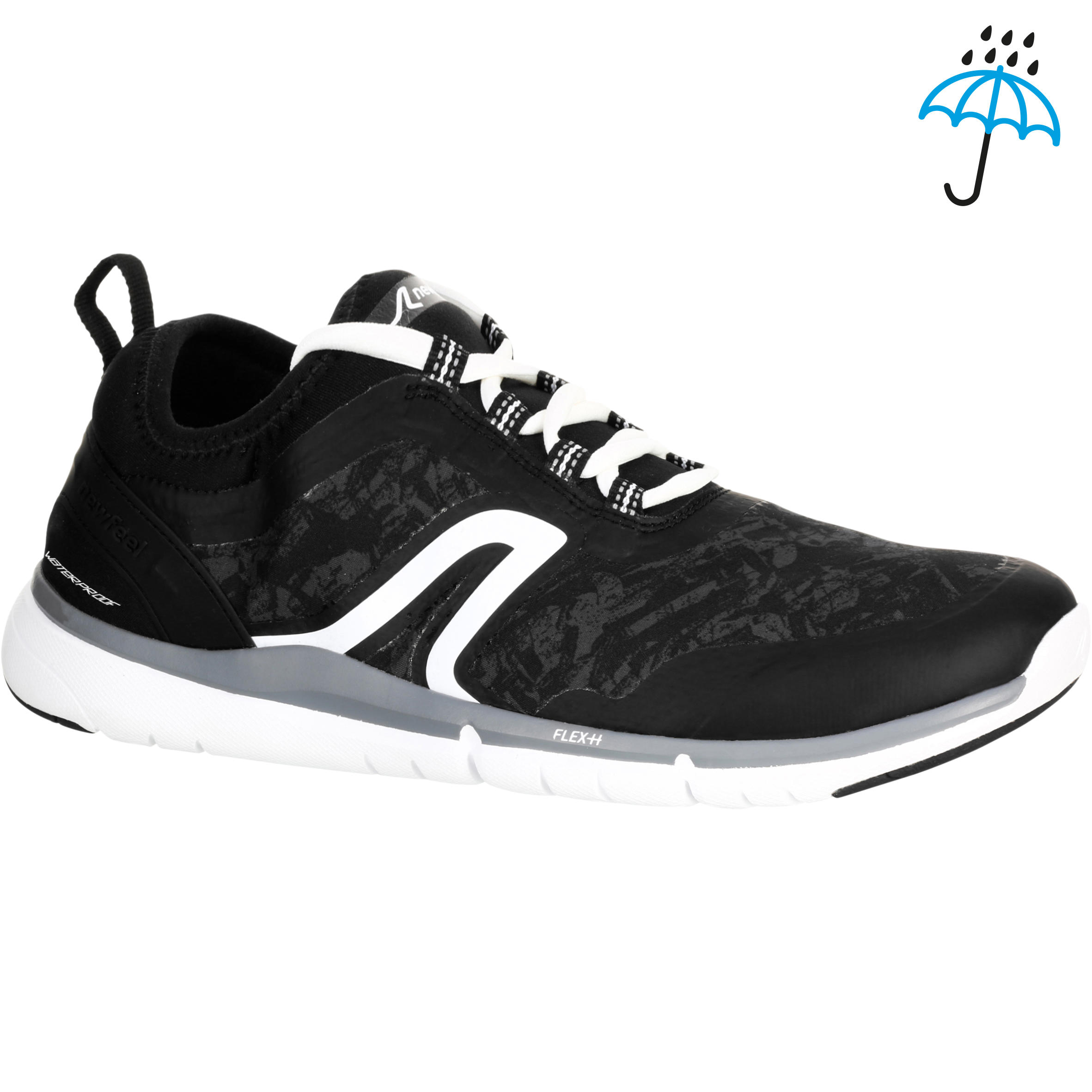 Chaussures marche sportive homme PW 580 Waterproof noir