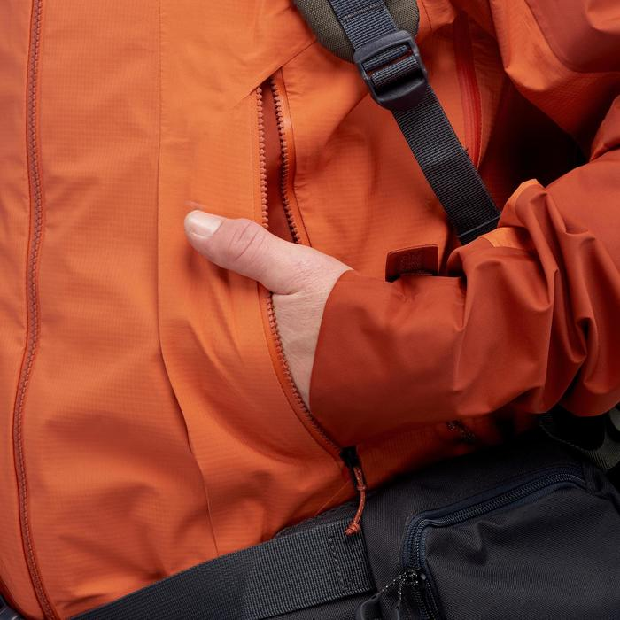 Trekkingjacke Trek 500 wasserdicht Herren orange