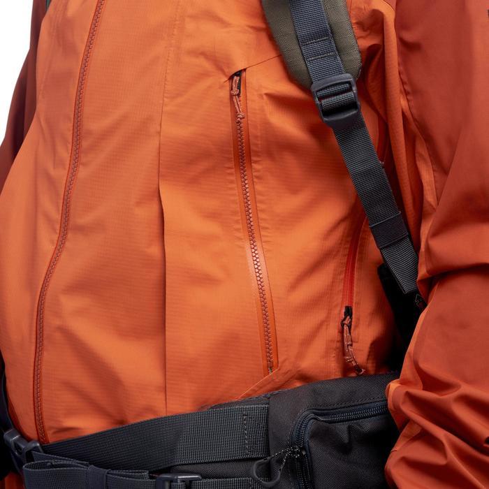 Chaqueta impermeable trekking montaña TREK 500 hombre naranja