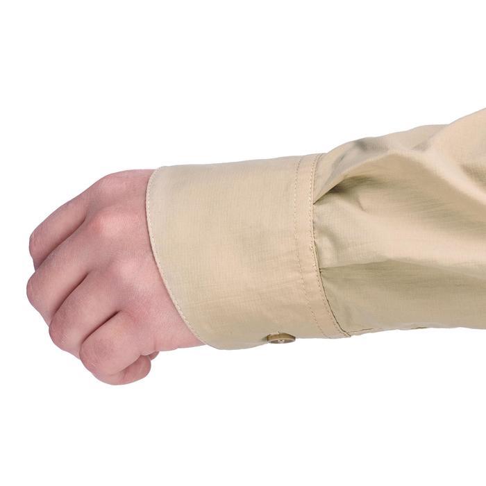 Herenoverhemd met lange mouwen voor woestijntrekking Desert 500 beige