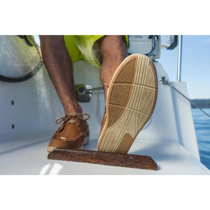 Leren bootschoenen voor heren Clipper lichtbruin