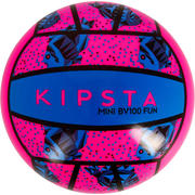 Mini žoga za odbojko na mivki BV100 - roza-modra