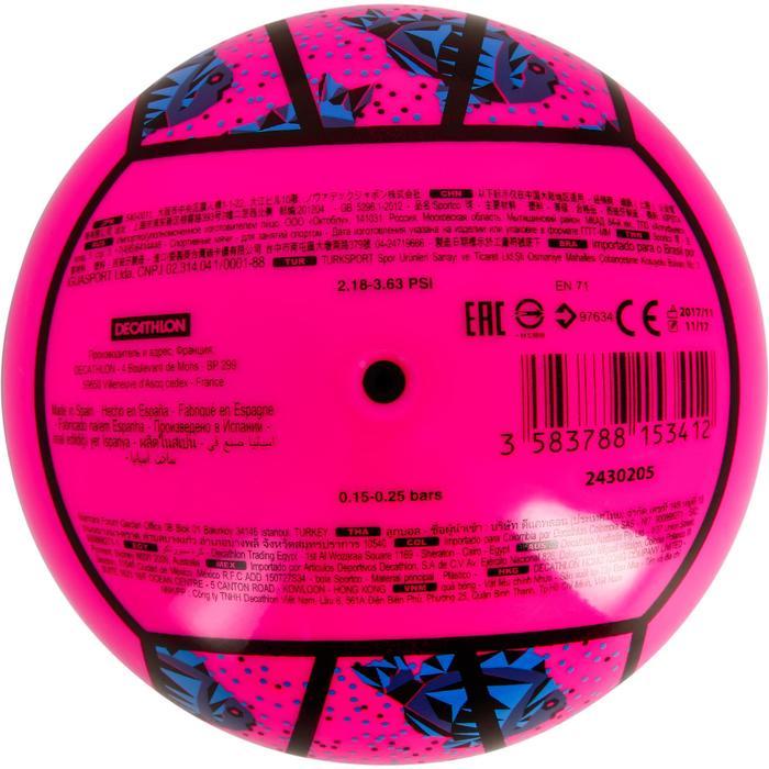 迷你沙灘排球BV100-粉藍配色