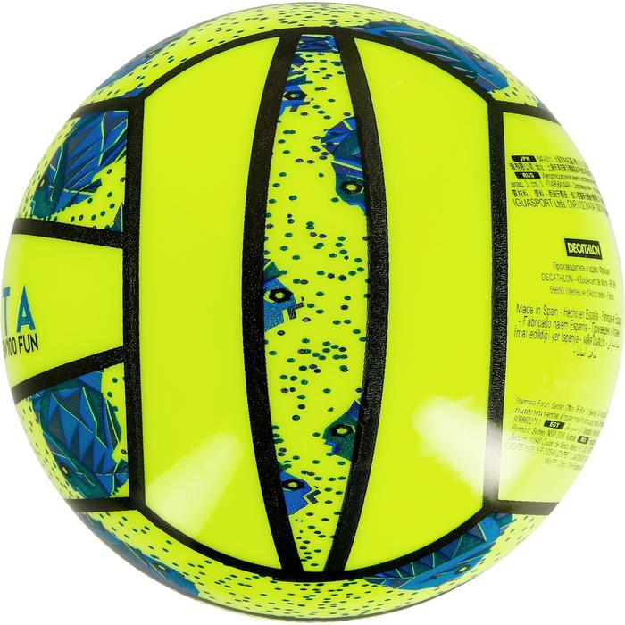 Mini ballon de beach-volley BV100 jaune et - 1308344