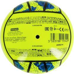 Mini ballon de beach-volley BV100 jaune et vert