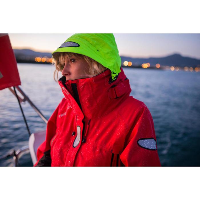Segeljacke wasserdicht Offshore Damen rot