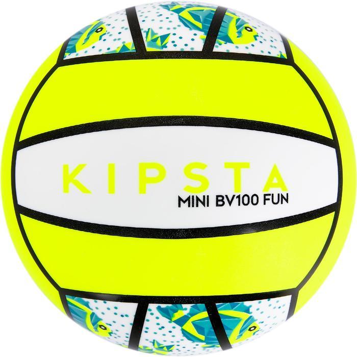 Mini ballon de beach-volley BV100 jaune et - 1308355