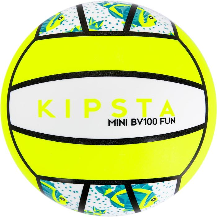 Minibalón de voley playa BV100 blanco y amarillo