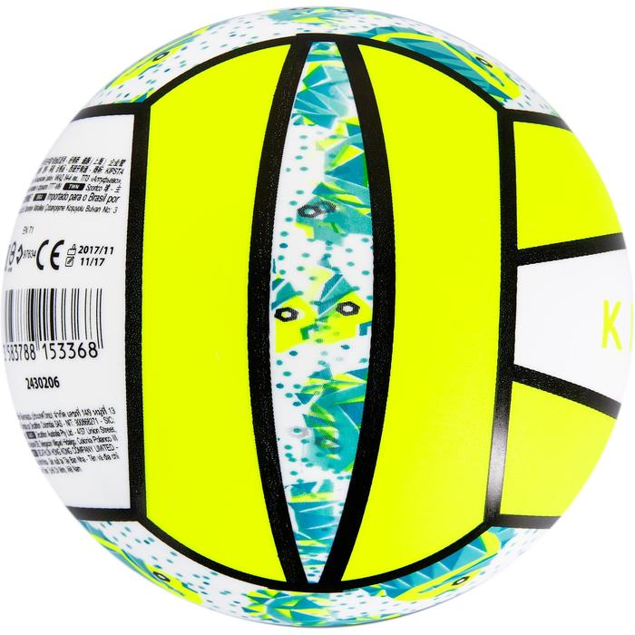 Mini ballon de beach-volley BV100 jaune et - 1308360