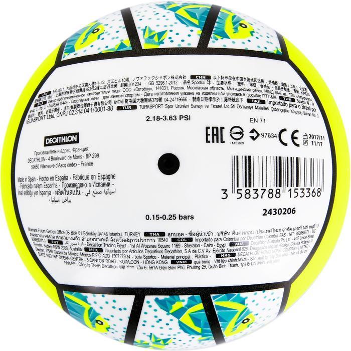 Mini ballon de beach-volley BV100 jaune et - 1308361