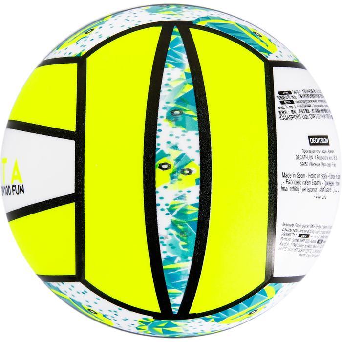 Mini ballon de beach-volley BV100 jaune et - 1308364