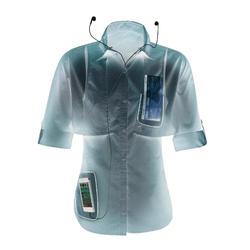 Camisa manga larga trekking TRAVEL 500 transformable mujer burdeos