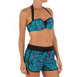 Sujetador bikini mujer banda con copas y aros LEA BALI NEGRO
