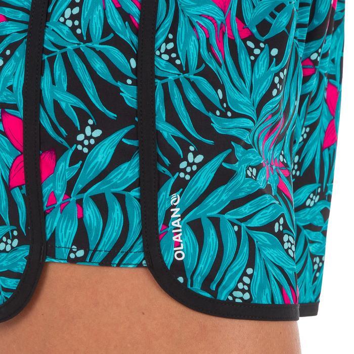 Boardshort mujer TINI BALI negro con elástico en la cintura y cordón de ajuste