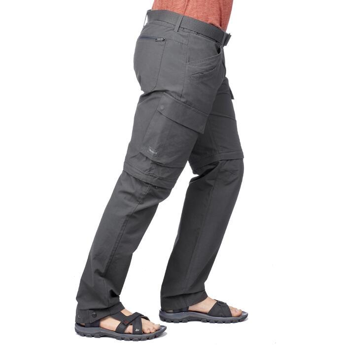 Pantalón TRAVEL 500 TRANSFORMABLE HOMBRE GRIS OSCURO