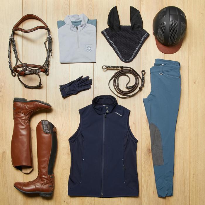 Bodywarmer dames ruitersport GL500 marineblauw