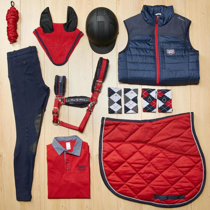 Mantilla equitación caballo 540 rojo