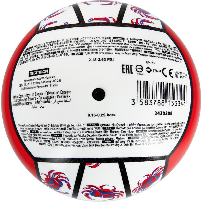 Mini ballon de beach-volley BV100 jaune et - 1308666