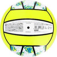 Ballon de volleyball de plage VP 100 blanc et jaune