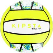 Bela in rumena žoga za odbojko na mivki BV100