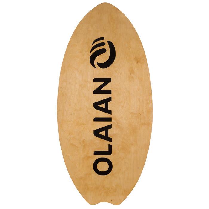 Skimboard en bois 500 pour adultes de moins de 80 kg.