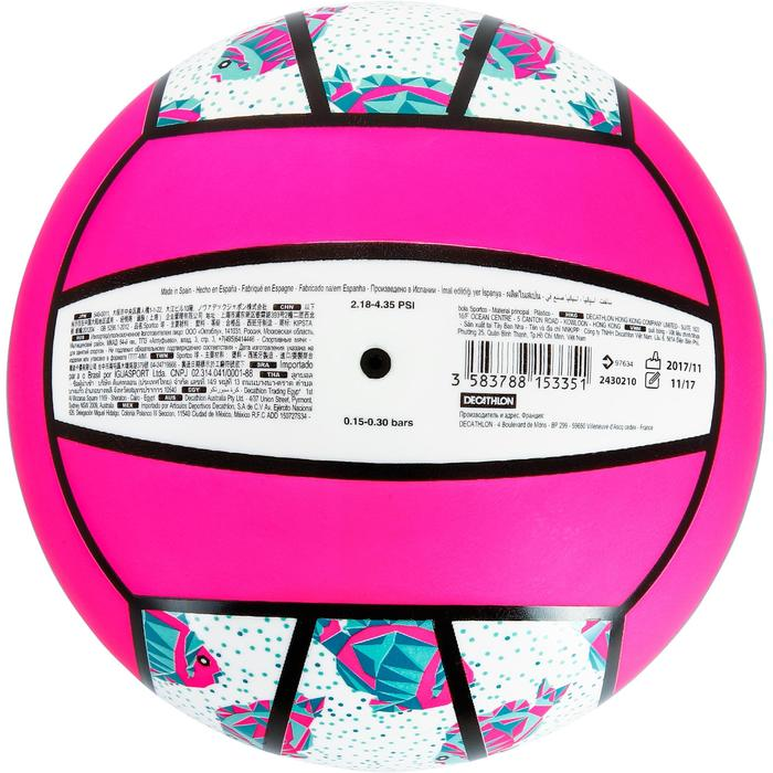 Bal voor beachvolleybal BV100 wit/roze