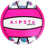 Bela in rožnata žoga za odbojko na mivki BV100