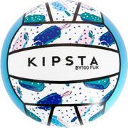 Žoga za odbojko na mivki BV100 - belo-modra