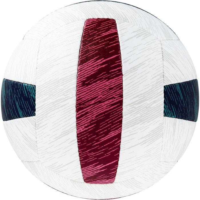 Balón de vóley playa BV500 verde y rojo