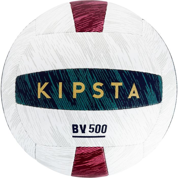 Ballon de beach-volley BV500 vert et rouge