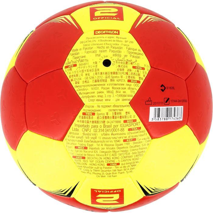 Ballon de handball hybride H500 Taille 2 rouge et - 1308781