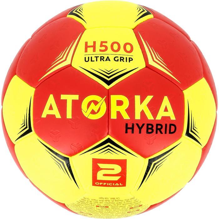 Ballon de handball hybride H500 Taille 2 rouge et - 1308783