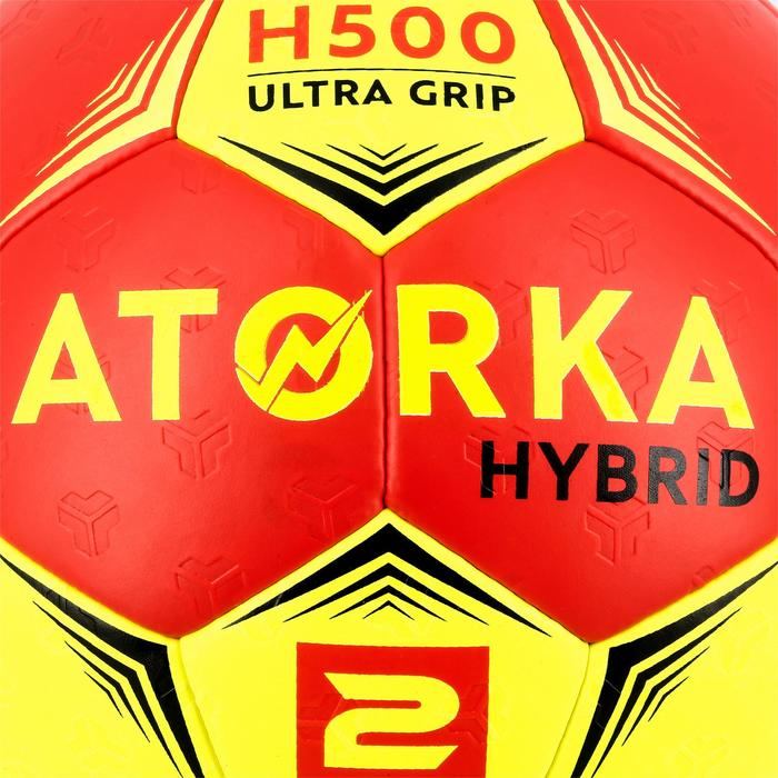 Ballon de handball hybride H500 Taille 2 rouge et - 1308784