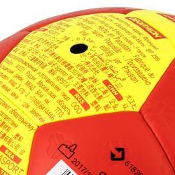 Handbal voor volwassenen H500 hybride maat 2 rood en geel
