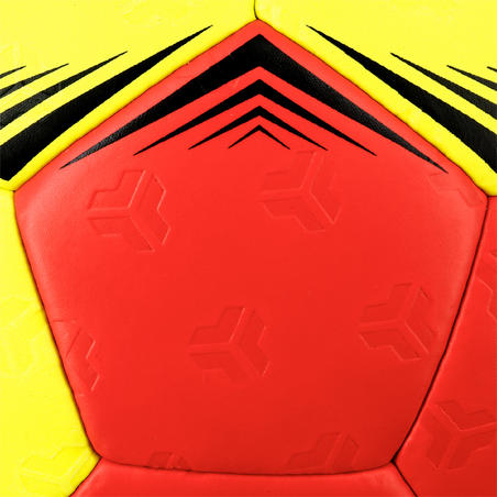 H500 Adult Hybrid Size 2 Handball - Red/Yellow