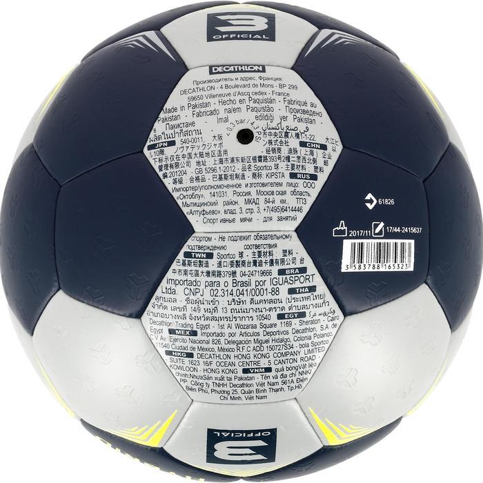 Ballon de handball adulte hybride T3 gris/bleu