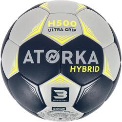 Balón de Balonmano Atorka H500 Híbrido Talla 3 Gris Azul