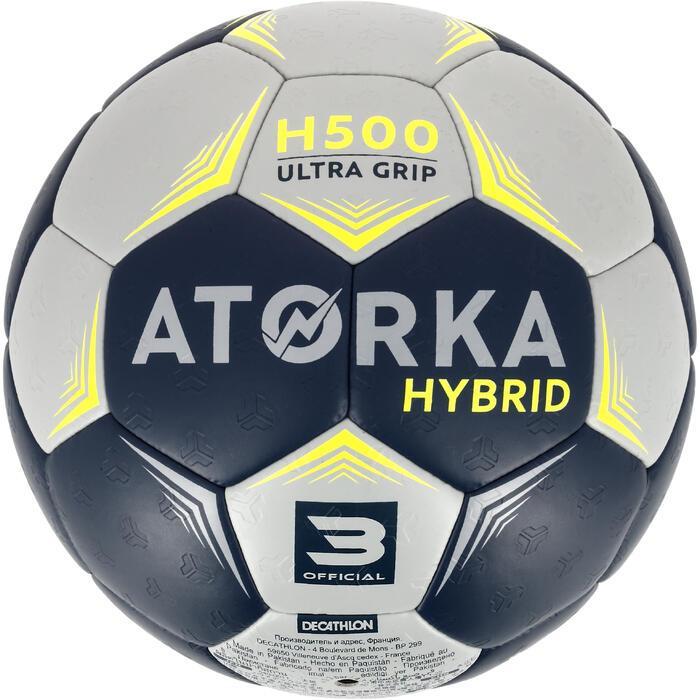 Ballon de handball hybride H500 Taille 2 rouge et - 1308790