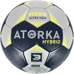 Handbal H500 hybride maat 3 grijs/blauw
