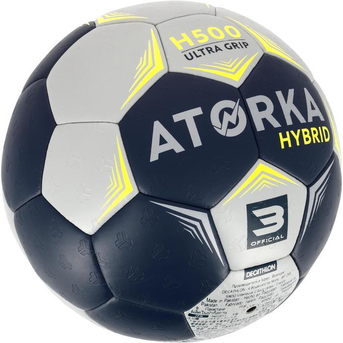 Ballon de handball hybride H500 Taille 2 rouge et - 1308792