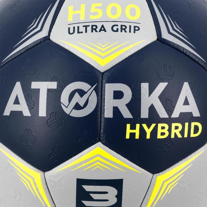 Handbal voor volwassenen hybride maat 3 grijs en blauw
