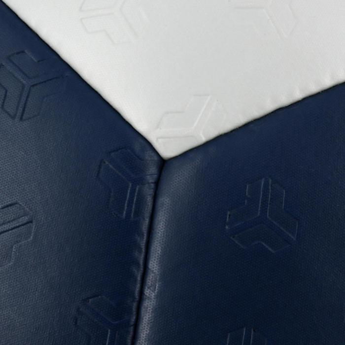 Ballon de handball adulte hybride Taille 3 gris et bleu