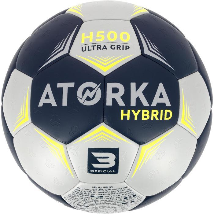 Ballon de handball hybride H500 Taille 2 rouge et - 1308799