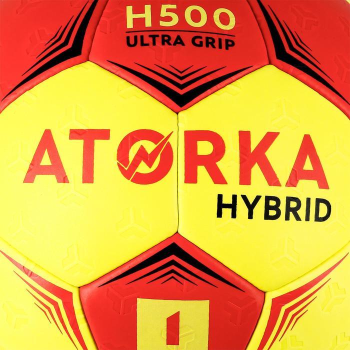 Ballon de handball hybride H500 Taille 2 rouge et - 1308801