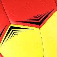 Ballon de handball hybride H500 T1 rouge/jaune -  Enfants