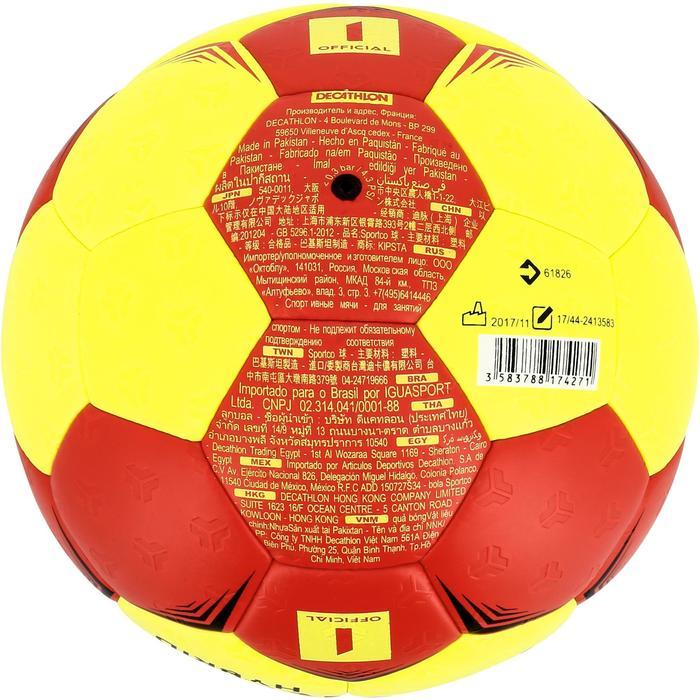 Ballon de handball hybride H500 Taille 2 rouge et - 1308804