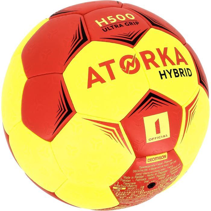 Ballon de handball hybride H500 Taille 2 rouge et - 1308809