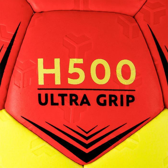 Ballon de handball hybride H500 Taille 2 rouge et - 1308810